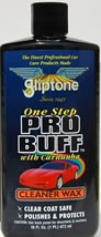 Gliptone Pro Buff Cleaner Wax with Carnauba