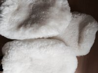 Product image of Limited Edition White Sheepskin Soft Wash Mitt