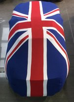 Union Jack Flag fleece indoor car cover - Medium